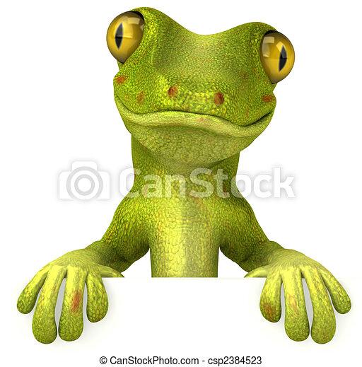 Fun gecko - csp2384523