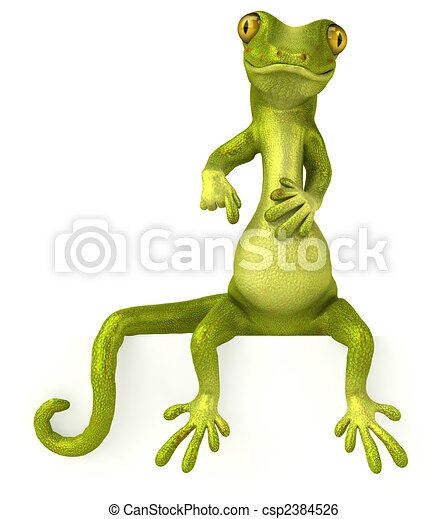 Fun gecko - csp2384526