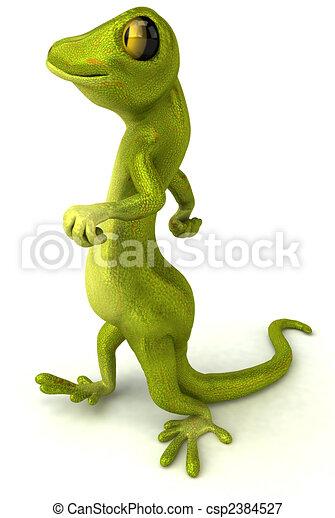 Fun gecko - csp2384527