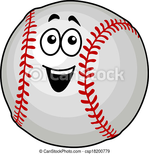 cartoon vector illustration of a fun happy baseball ball vectors rh canstockphoto com baseball graphics free baseball graphics for t shirts