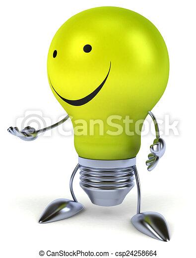 Fun light bulb - csp24258664