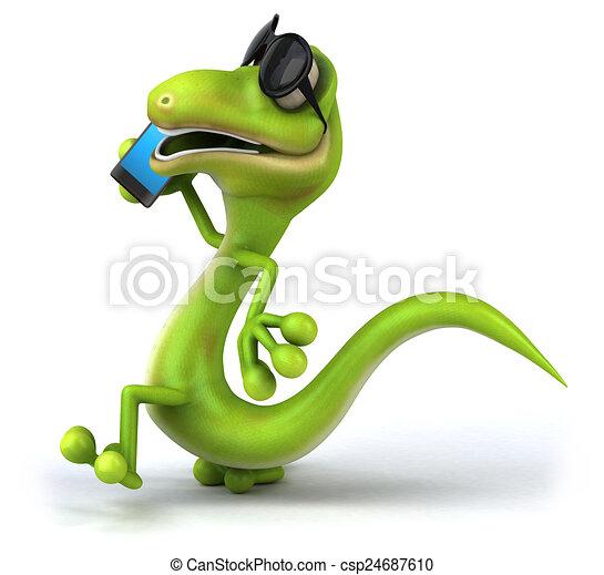 Fun lizard - csp24687610