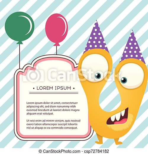 Awesome Fun Monsters Happy Birthday Card Monster Party Invitation Card Funny Birthday Cards Online Fluifree Goldxyz