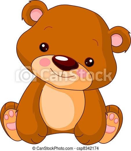Fun zoo. Bear - csp8342174