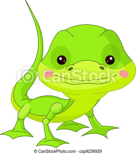 Fun zoo. Lizard - csp9236929