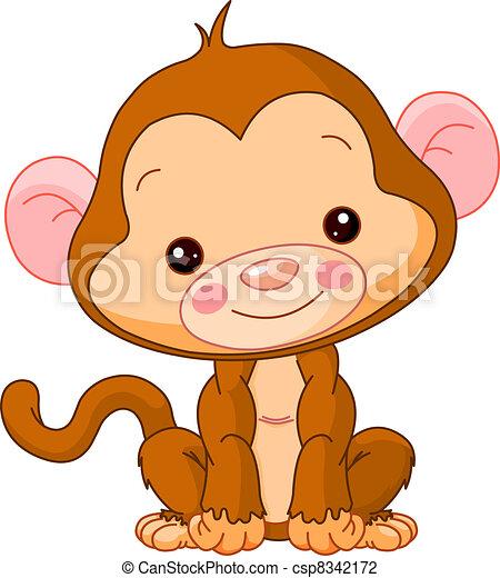 fun zoo monkey fun zoo illustration of cute monkey rh canstockphoto com  cute girl monkey clipart