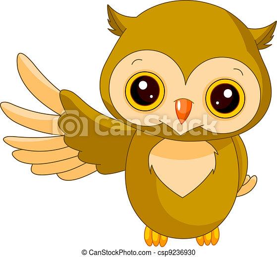 Fun zoo. Owl - csp9236930