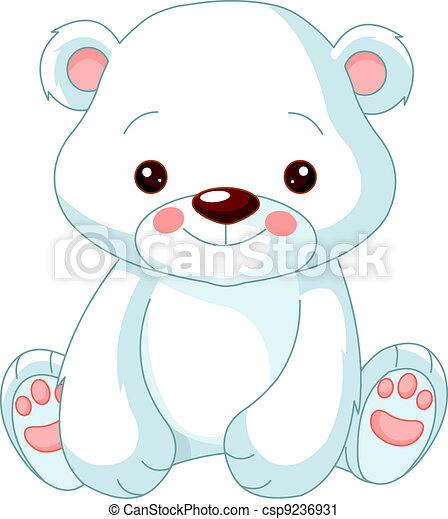 Fun zoo. Polar Bear - csp9236931