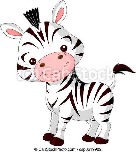 Fun zoo. Zebra - csp8619989