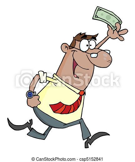 Hombre de negocios con un dólar - csp5152841