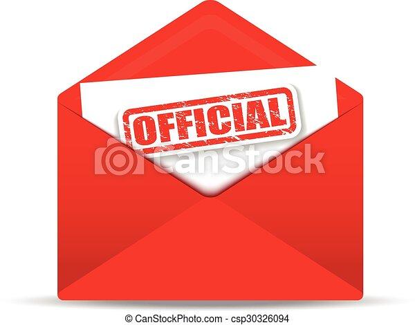 Sobre rojo oficial - csp30326094