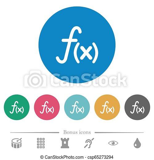 Function flat round icons - csp65273294