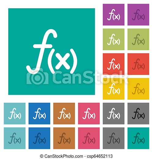 Function square flat multi colored icons - csp64652113