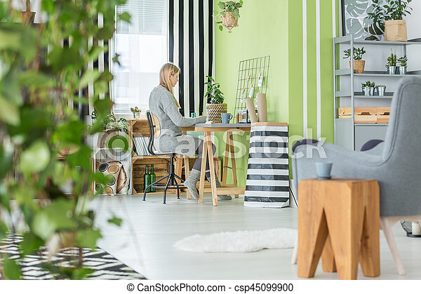 green home office paint functional office and living room csp45099900 room green home