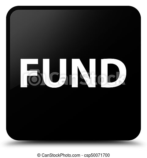 Fund black square button - csp50071700