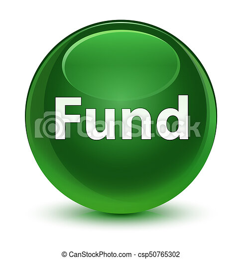 Fund glassy soft green round button - csp50765302