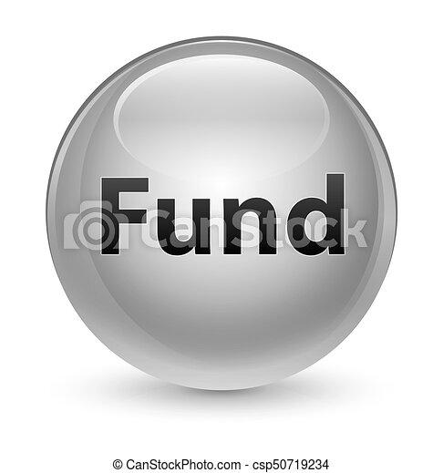 Fund glassy white round button - csp50719234