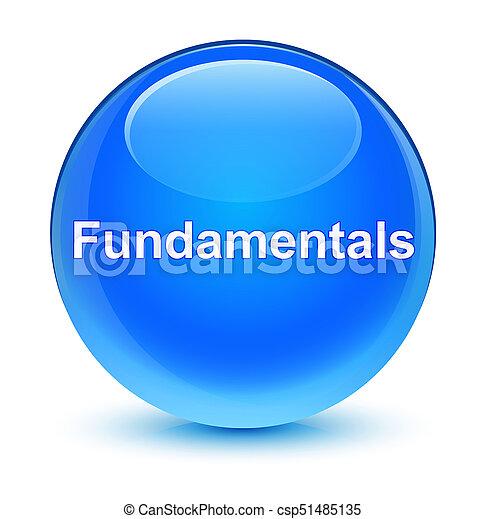 Fundamentals glassy cyan blue round button - csp51485135