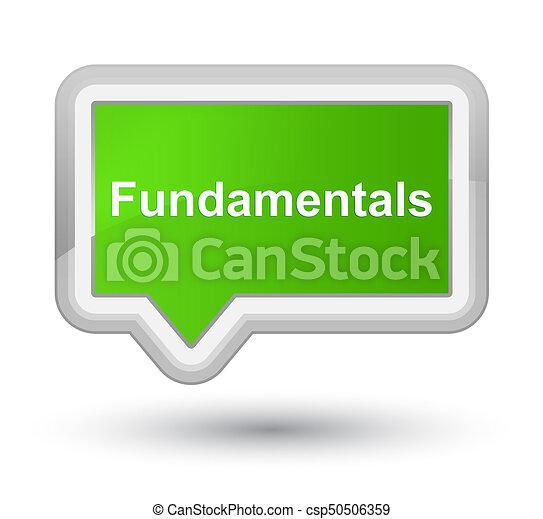 Fundamentals prime soft green banner button - csp50506359