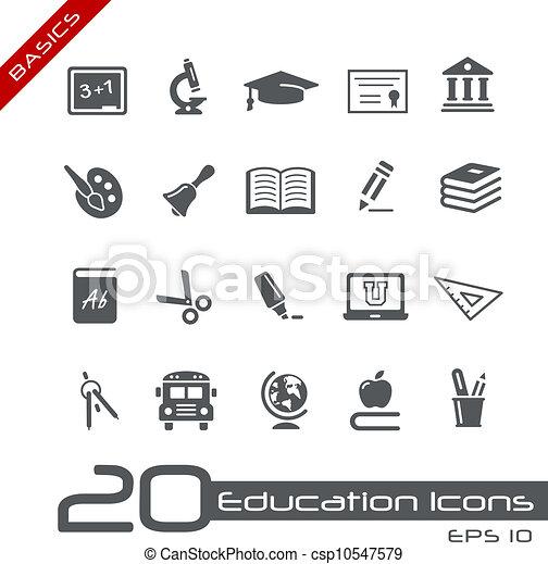 //, fundamentos, educación, iconos - csp10547579