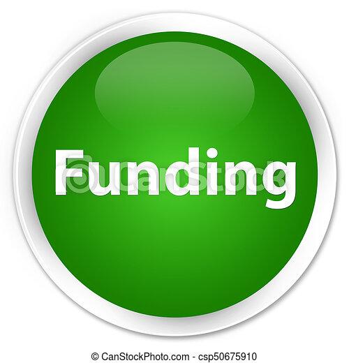 Funding premium green round button - csp50675910