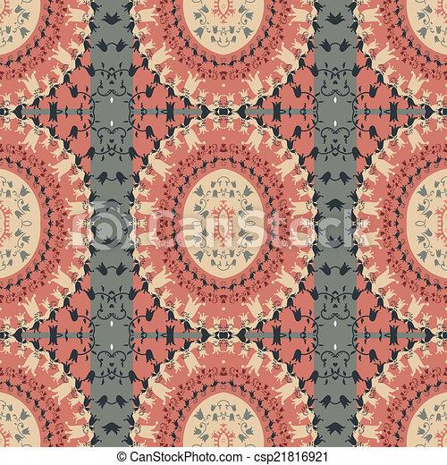 fundo, arabescos, étnico - csp21816921