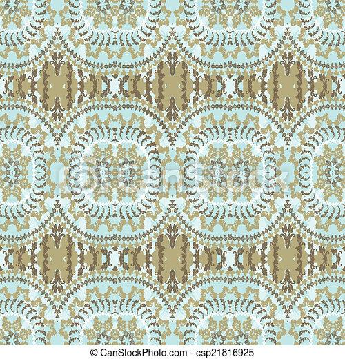 fundo, arabescos, étnico - csp21816925