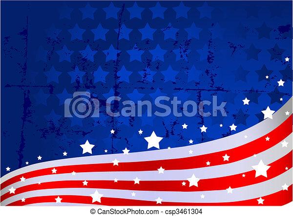 fundo, bandeira americana - csp3461304