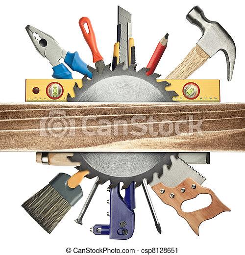 fundo, carpintaria - csp8128651
