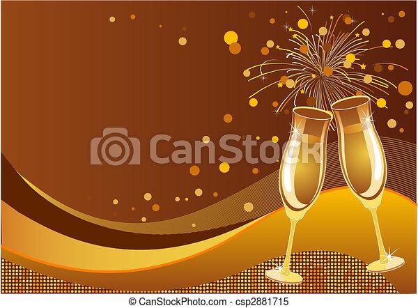 fundo, celebração - csp2881715