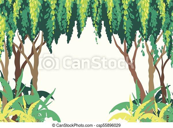 Fundo Desenho Floresta Arvores Fundo Desenho Arvores