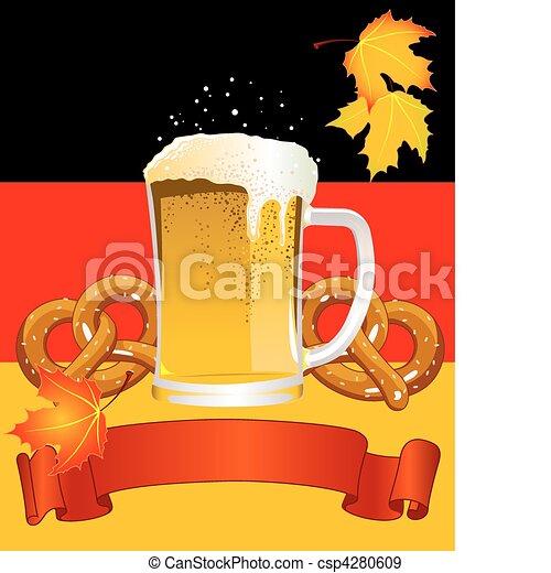 fundo, oktoberfest, celebração - csp4280609