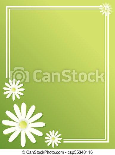 Fundo Primavera Margarida Modelo Cartaz Borda
