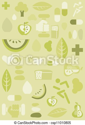 fundo, saúde, ilustração - csp11010805