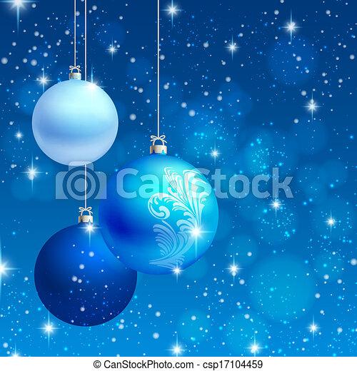 fundo, vetorial, ornamento, cartão natal - csp17104459