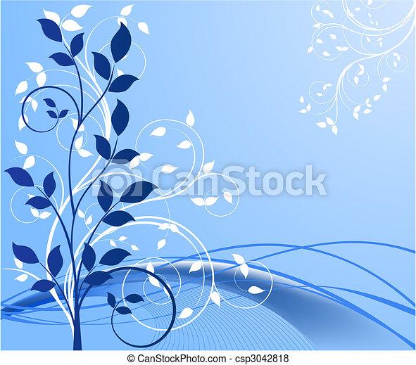 fundos, vetorial, floral, abstratos - csp3042818