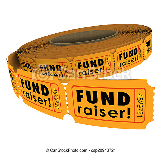 Fundraiser 50 Fifty Raffle Ticket Roll Charity Event Raising Mon - csp20943721