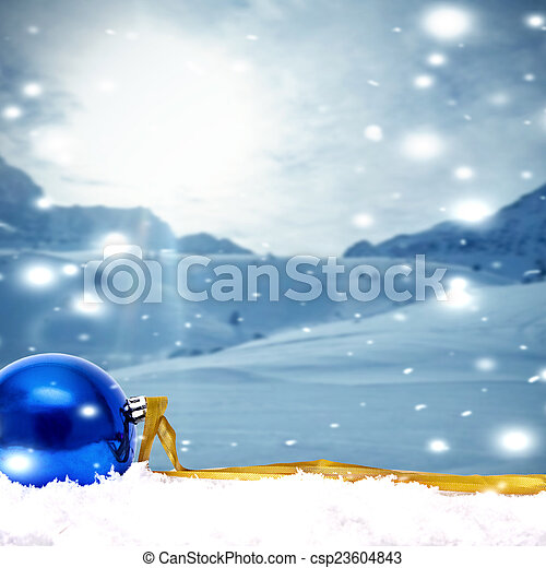 funds with traditional Christmas decoration and Christmas holidays - csp23604843