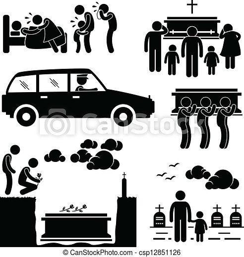 Funeral Burial Ceremony Pictogram - csp12851126
