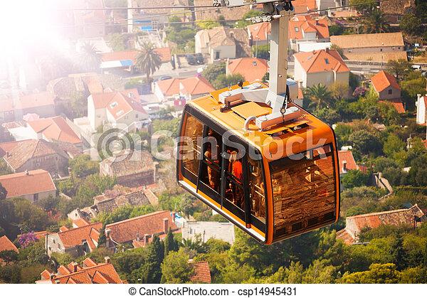 Coche de cable en Dubrovnik - csp14945431