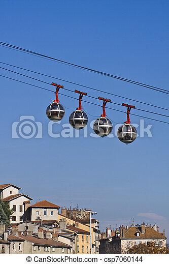 Grenoble funicular ferroviario - csp7060144