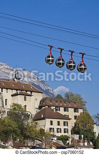 Grenoble funicular ferroviario - csp7060152