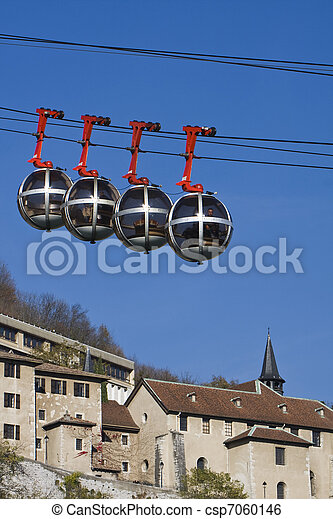 Grenoble funicular ferroviario - csp7060146
