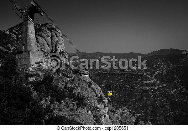 Funicular sobre montañas - csp12056511
