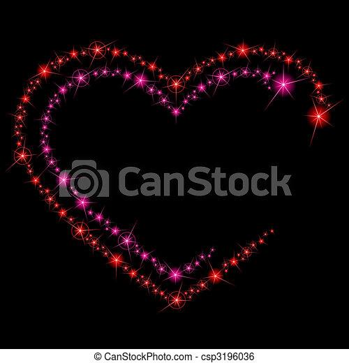 funkeln, hintergrund, valentine - csp3196036