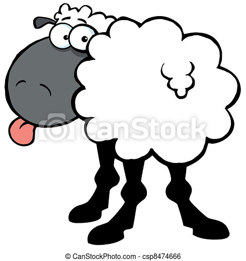 Funky Black Sheep  - csp8474666