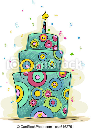 Funky Cake - csp6162791