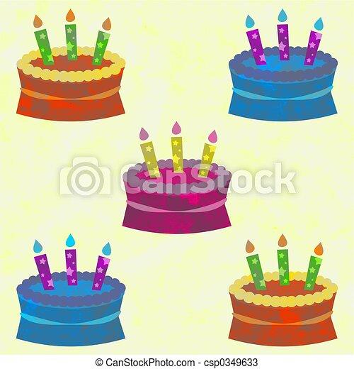 funky cakes - csp0349633
