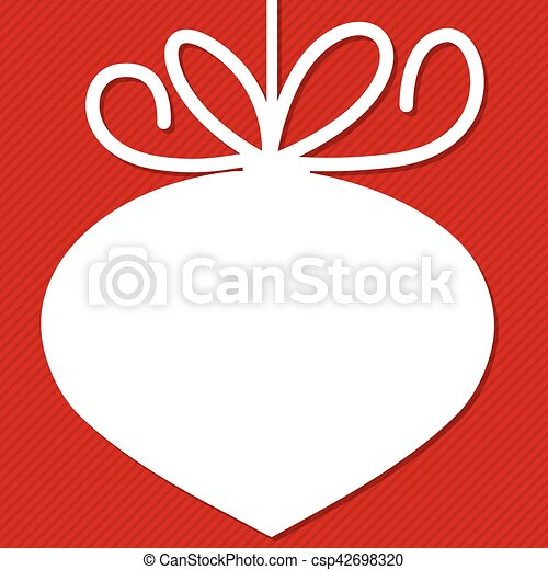 Funky Christmas bauble tag in vector format. - csp42698320