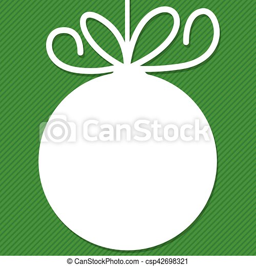 Funky Christmas bauble tag in vector format. - csp42698321